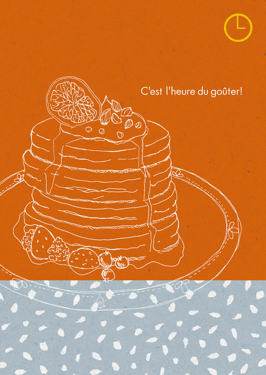 3時のおやつポスター ホットケーキ