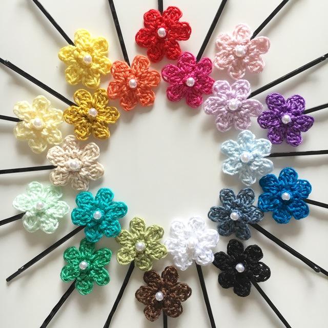 選べる3色!手編みお花のヘアピン【カラーリニューアル!】