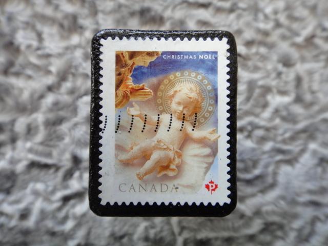 カナダ 切手ブローチ 603