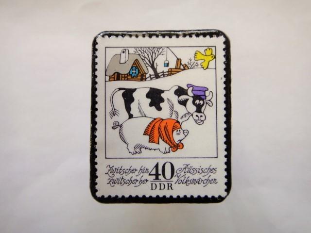 旧東ドイツ  童話切手ブローチ614