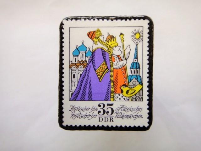 旧東ドイツ  童話切手ブローチ615