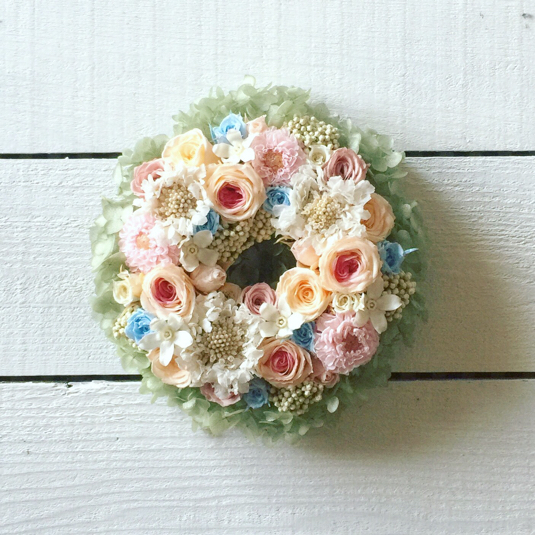 XS size order-made preserved flowers wreath リース (約10cm〜15cm)
