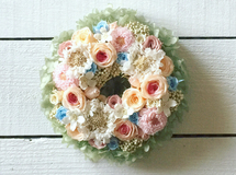 XS size order-made preserved flowers wreath リース (約10cm~15cm)