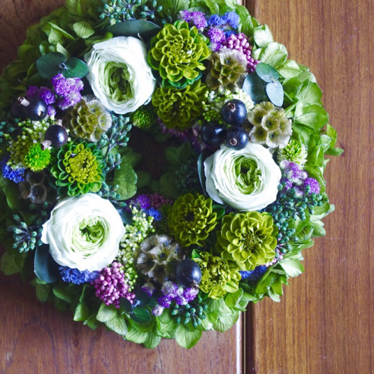 M size order-made preserved flowers wreath �꡼�� (��20cm��25cm)