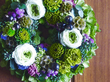 M size order-made preserved flowers wreath リース (約20cm~25cm)