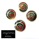 petit rose(4pcs)vintage buttons