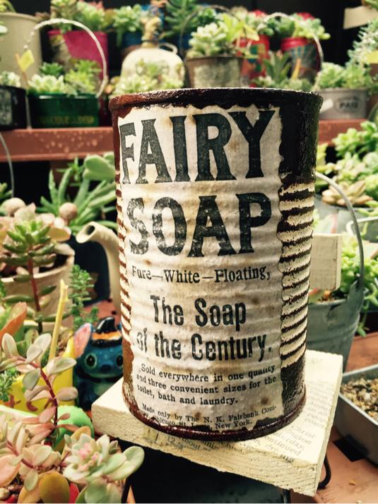 ブラウン リメ缶SOAP