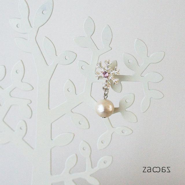 【販売終了】Snowイヤーカフ*白銀