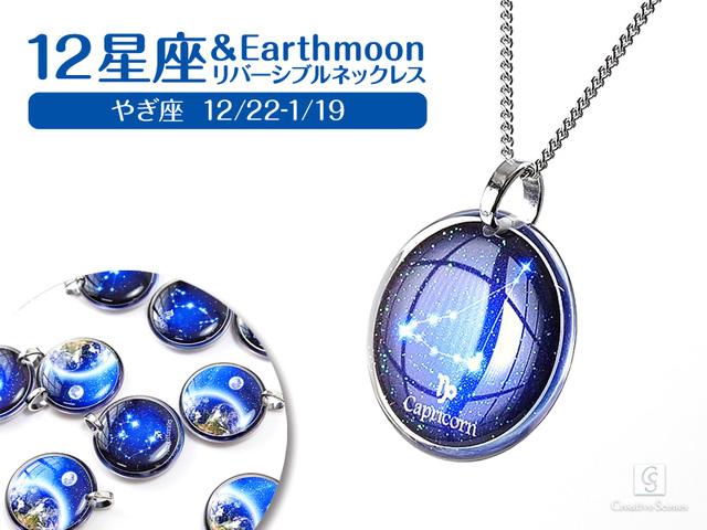 ★やぎ座&Earth Moonリバーシブルネックレス