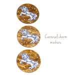 brown(3pcs) Carousel design charm