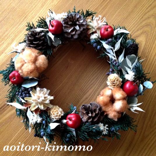 値下2000円→1500円《送料無料》スッキリデザインのクリスマスリース