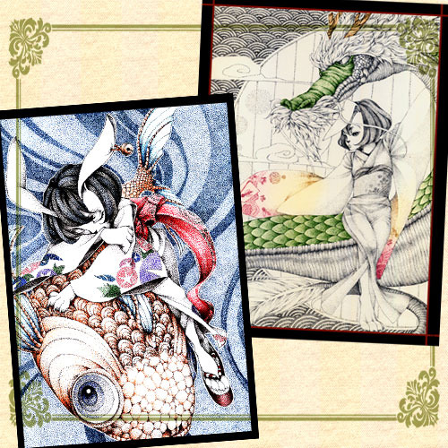 和ウサギのポストカードセット