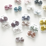 funwari colorful mini ribbon clip set * BABY & KIDS * ※ヘアゴムに無料変更可能