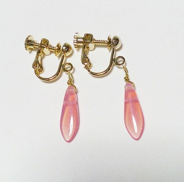桜色☆プチイヤリング/樹脂ピアス