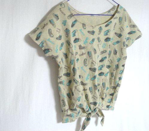 スニーカー柄結Tシャツ130  セール