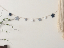 Gray Mix ☆ STAR GARLAND 140cm