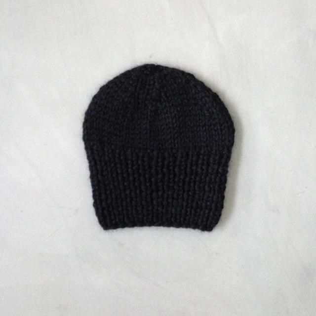 baby alpaca knit cap black
