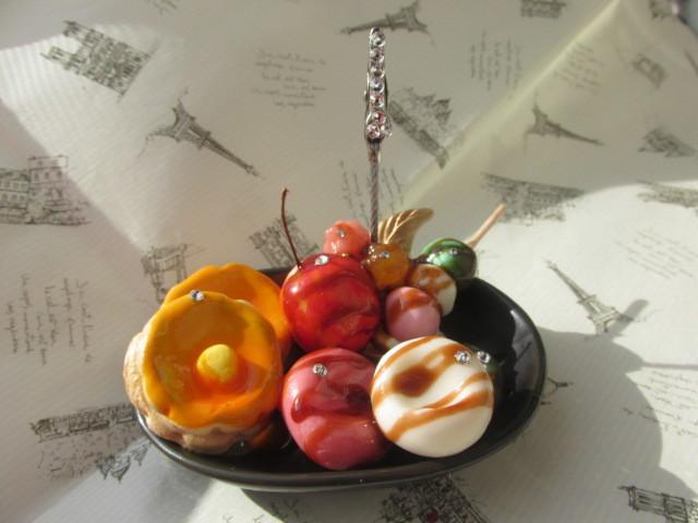 和&洋風 ホットケーキと白玉のメモスタンド  スイーツデコ