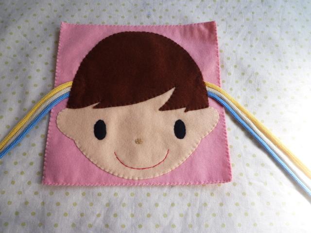 <再販12>女の子の三つ編み(ピンク)