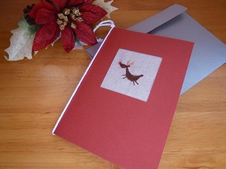 クリスマスカード(トナカイさん)