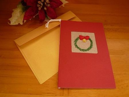 クリスマスカード(クリスマスリース)