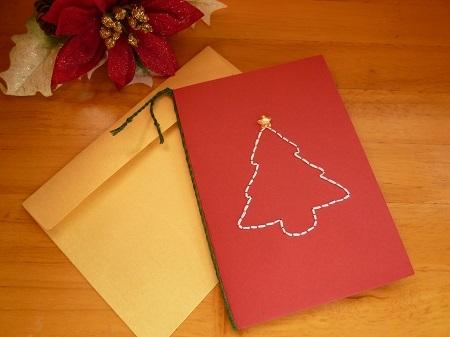 クリスマスカード(クリスマスツリー)