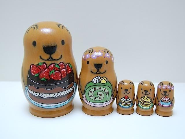 Kumaカフェ♪マトリョーシカ♪茶クマの家族