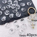 【brsr4449acrc】【11㎜ size】【40pcs】clear acrylic beads