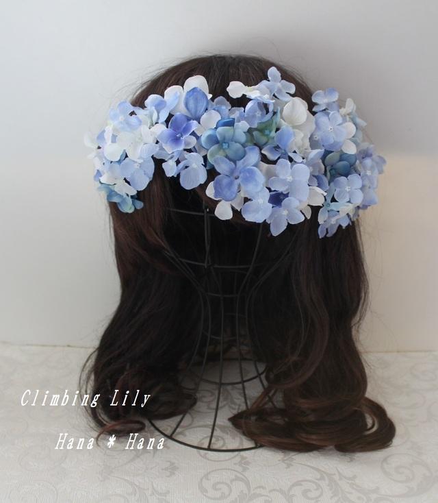 ウェディング 造花 髪飾り  色変更OK