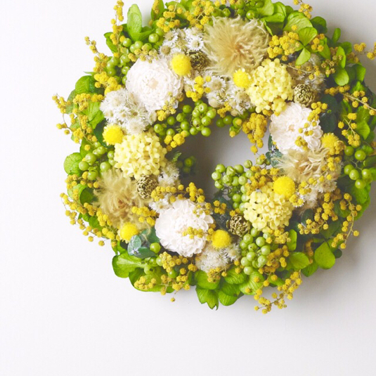 S size order-made preserved flowers wreath リース (約15cm〜20cm)