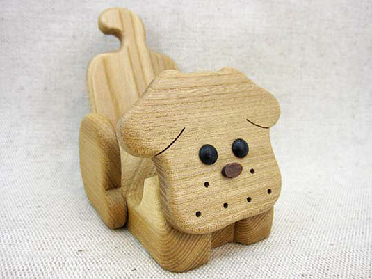 犬の携帯電話スタンドtypeB (スマートフォンも可能)