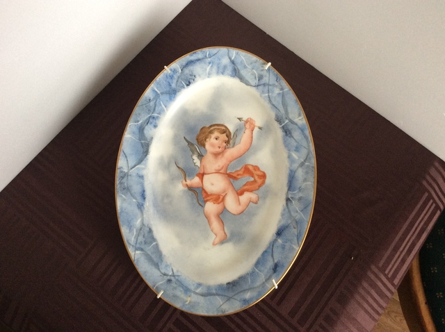 天使の絵皿