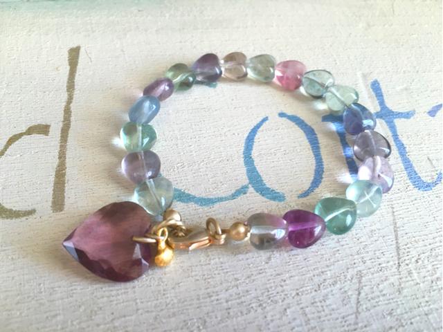 Fluorite Heart Bracelet