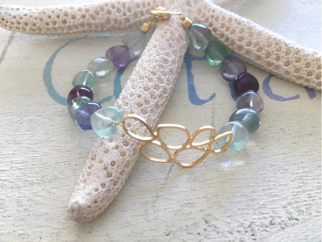 Fluorite Ocean Bubble Bracelet