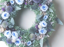 L size order-made preserved flowers wreath リース (25cm~30cm)