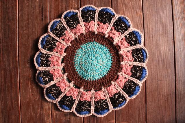 お花の円座 リバーシブル  37.5cm
