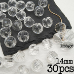 【brsr4460acrc】【14㎜ size】【30pcs】clear acrylic beads