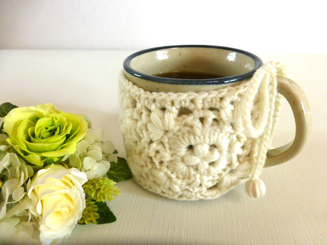 保温カバーcofee cozy コーヒーコージー:オフホワイト