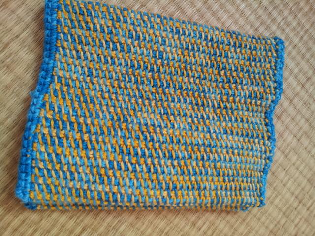 アフガン編みブックカバー