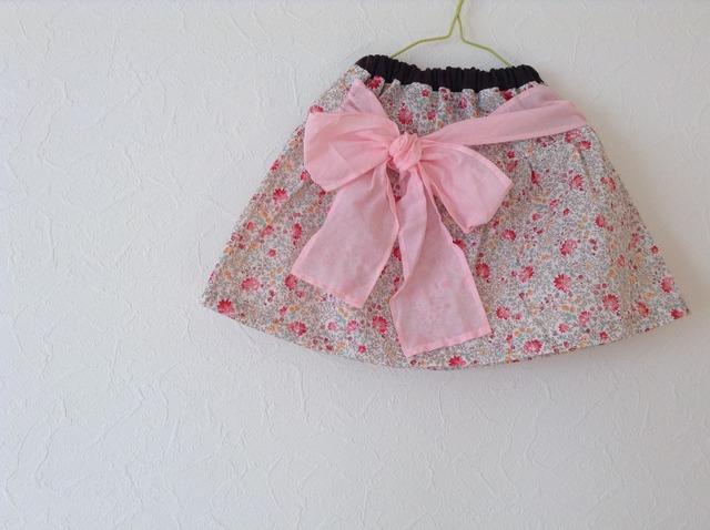 リボンスカート (ピンク)