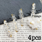 【chmm4562acrc】【4pct】beads connecter  6㎜・8㎜ビーズ使用 コネクター・クリアー