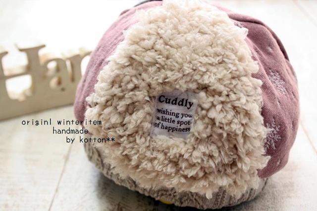 5枚パッチどんぐり帽子*46cm*雪の結晶pinkxドット