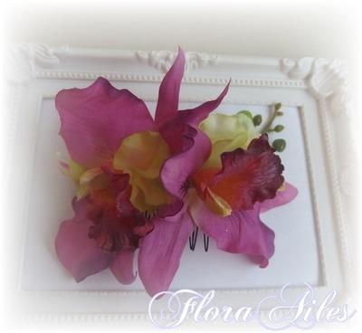 お花で仕上げた髪飾り#和装でも洋装にも合うヘッドドレス