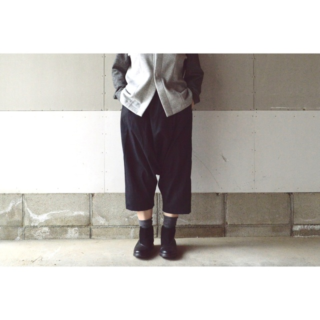 SARROUEL PANTS BLACK 【M~L】(COTTON VIYELLA)