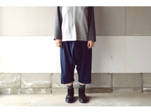 SARROUEL PANTS NAVY【M~L】(COTTON VIYELLA)
