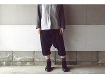 SARROUEL PANTS BLACK【S~M】 (COTTON VIYELLA)