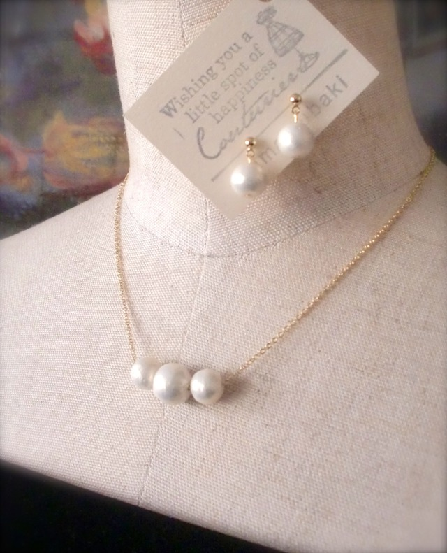 Cotton Pearl * ネックレス