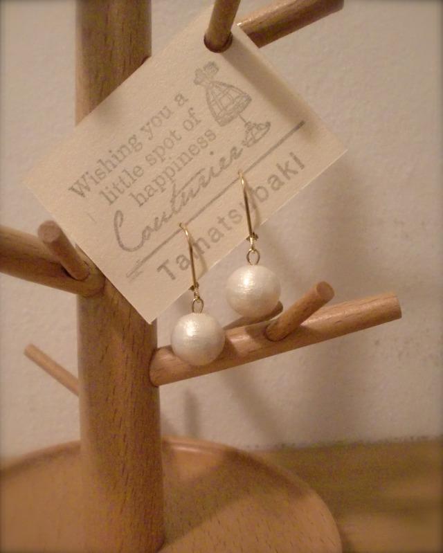 【再販】Cotton Pearl * ピアス