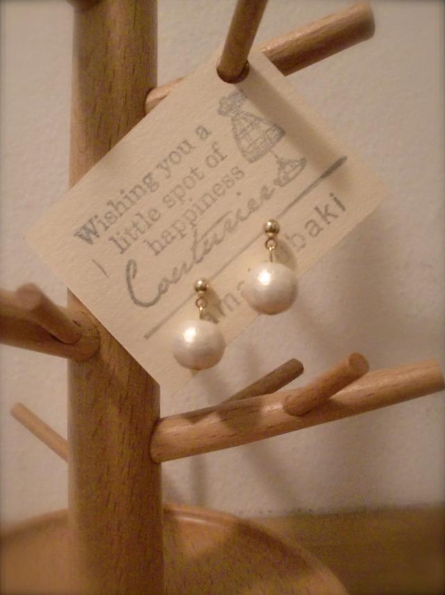 Cotton Pearl * ピアス