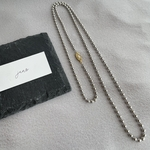 silver ball chain necklace 4mm